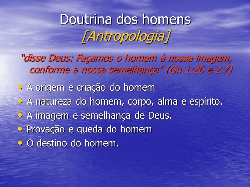 Doutrina dos homens [Antropologia]